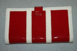 NEW Red Patent Wallet Artificial Leather Polka Dot Lining