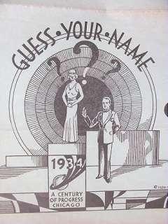 Progress1933 CHICAGO WORLD FAIR Horoscope POSTCARD Packet Ohio Exhibit