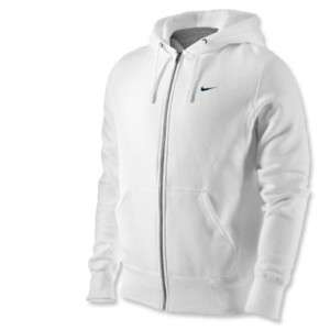 Men Nike Squad Fleece FZ Full Zip Hoody White Hoodie