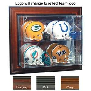New England Patriots NFL Case Up 4 Mini Helmet Display