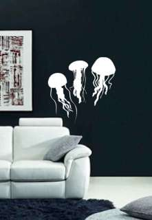 Ocean Sea Jellyfish Home Wall Art Decor Vinyl Decal Lrg