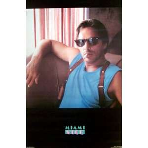 MIAMI VICE DON JOHNSON ORIGINAL 1984 21x32 POSTER