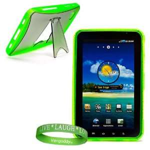 Galaxy Tablet Case   Kick Stand & No Slip Grip ( Apple Green ) + Live