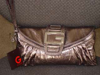 by Guess AVALON Clutch Purse Bag Pewter Dark Gray BNWT