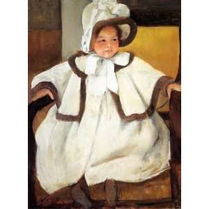 Mary Stevenson Cassatt   24 x 32 inches   Ellen Mary Cassatt in a Wh