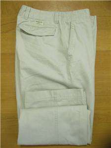 Gap Mens Flat Front Loose Fit Chino Khaki Pants 31x30 32x30