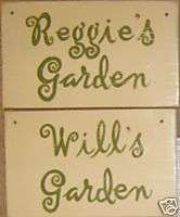 Personalized GARDEN Custom Sign Gift Gardener Yard Art