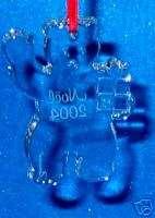 BACCARAT CRYSTAL Noel 2004 Teddy Bear with Gift
