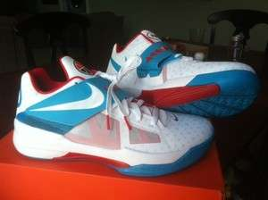 Nike N7 Zoom KD IV White Turquoise Challenge Red   New   Deadstock