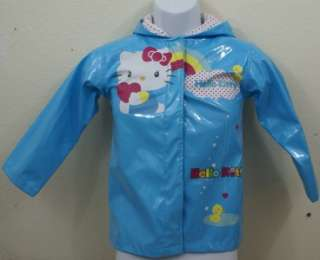 Girls SIze 6 Hello Kitty BY Sanrio Raincoat/ Windbreaker