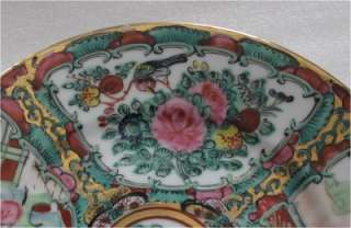 ANTIQUE CANTON FAMILLE ROSE PORCELAIN BOWL, PLATE 1880