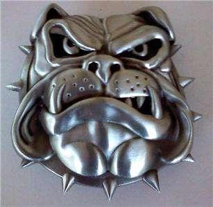 NEW ENGLISH BULLDOG DOG ANIMAL HEAD METAL BELT BUCKLE