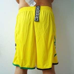 KAPPA Mens Football Soccer Jersey Shorts Yellow M L XL