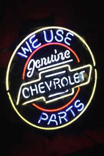 CHEVROLET GENUINE PARTS AMERICAN AUTO NEON LIGHT SIGN me370