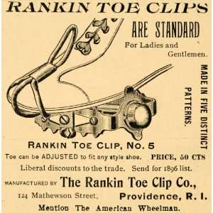 1896 Ad Rankin Toe Clips Providence Rhode Island Bicycle