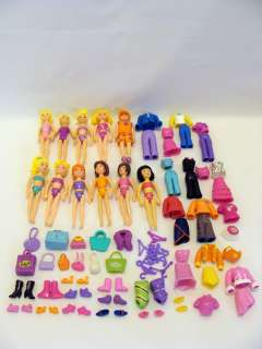 Lot Of Fashion Polly Pocket Dolls Clothes Shoes And Accesories 10