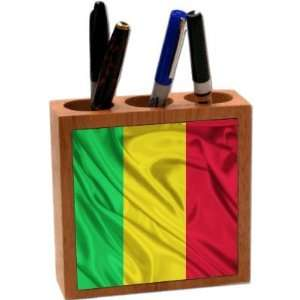 Rikki KnightTM Mali Flag 5 Inch Tile Maple Finished Wooden