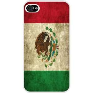 Rikki KnightTM Mexico Flag Design White Hard Case Cover