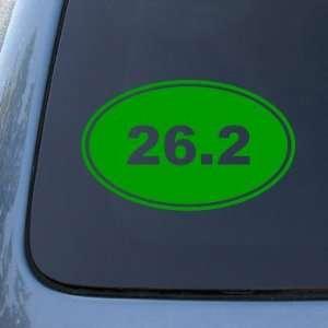 RUNNING EURO OVAL   Vinyl Car Decal Sticker #1765  Vinyl Color Green