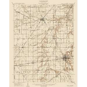 USGS TOPO MAP UPPER SANDUSKY QUAD OHIO (OH) 1907