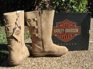NEW Womens Harley Davidson Gypsum Tan Riding Boots $125