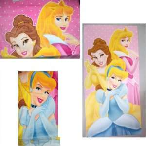 DISNEY PRINCESS CINDERELLA BELLE AURORA TOWEL BATH TOWEL