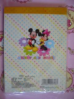 Mickey Mouse and Minnie Mouse Stationery Memo Pad Memo Paper C