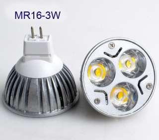 Mr16/12V Gu10/220V Plug 3*1W Led Light Warm Cool White Light Bulb Lamp
