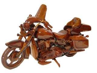HARLEY DAVIDSON ELECTRA GLIDE MOTORCYCLE WOOD WOODEN MAHOGANY DESKTOP