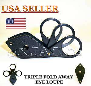 LENS 12X MAGNIFIER EYE LOUPE LOOP MAGNIFYING GLASS