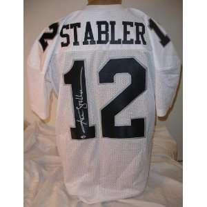 Ken Stabler Autographed/Hand Signed Custom White Jersey