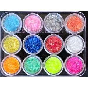 12 Colors Glitter Strips Nail Art Decoration Beauty