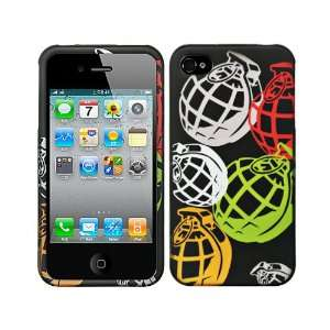 Black Rainbow Hand Grenade Crystal 2D Hard Case Cover for Apple iPhone