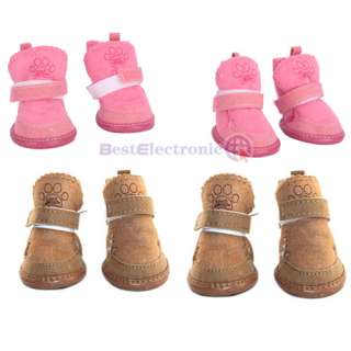 Warm Walking Cozy Pet Dog Shoes Boots Apparel Any Size