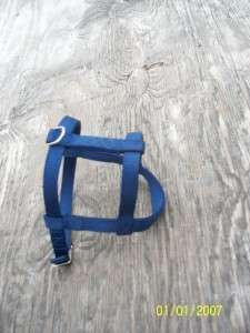 Small Blue Dog Harness Metal USA Made Heavy Duty