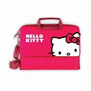 Red/Pink Hello Kitty KT4335R 15.4 Laptop Case W/Shoulder Strap