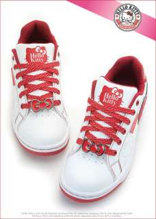 Sanrio Hello Kitty Ladys Comfy Casual Sneakers Shoes White Red 910671