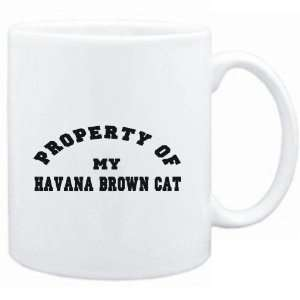 Mug White  PROPERTY OF MY Havana Brown  Cats