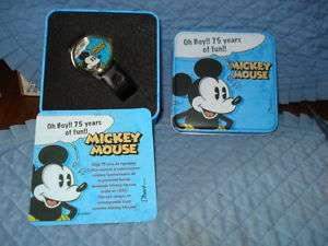 Mickey Mouse Character Watch,75 Years Of Fun MIB Disney