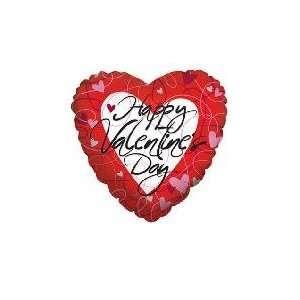 36 Red Stripes&Hearts Valentine   Mylar Balloon Foil