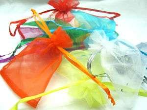 Organza Jewellery Xmas Gift Party Bags Filigree 95x120