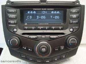 Honda Accord EX Radio AUX  Player 6 CD Changer 7FY1 2004 2005 2006