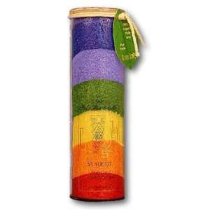 Chakra Eco Palm Jar Candle   Sri Yantra (Rainbow):  Home