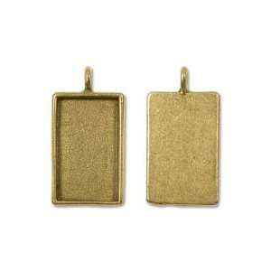 Nunn Design Antiqued Gold Plated Pewter Collage Bezel Rectangle 1 1/4