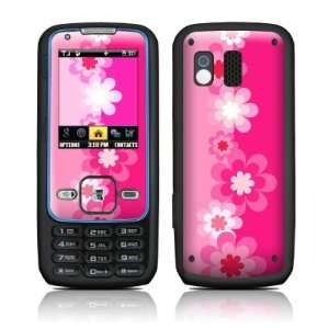 Retro Pink Flowers Design Protective Skin Decal Sticker