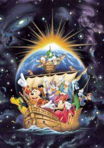 Japan Jigsaw Puzzle Tenyo Disney Mickey Pirate Ship 860