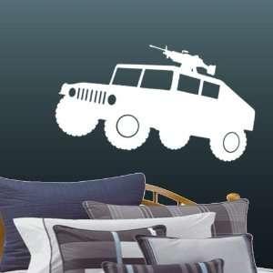 White Large Military Humvee HMMWV Wall & Window Decal