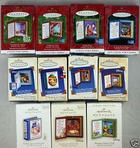 Lot of 12 WINNIE THE POOH SERIES Hallmark Ornaments MIB
