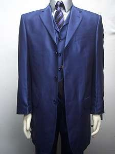 MENS METALLIC PURPLE DRESS ZOOT SUIT SIZE 42R NEW