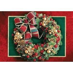 Birchcraft Studios 2262 Embellished Christmas Wreath   Gold Lined